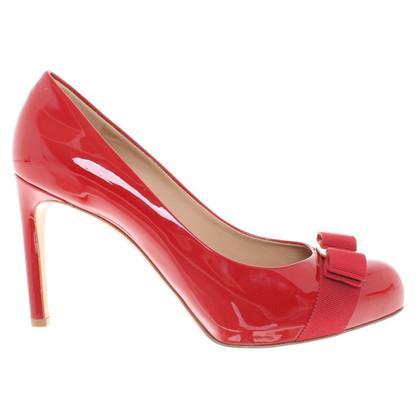 Salvatore Ferragamo pumps in red