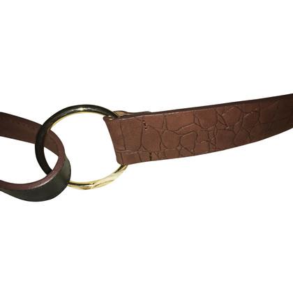 René Lezard leather belt