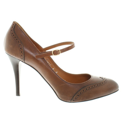 Ralph Lauren Leather-pumps in brown