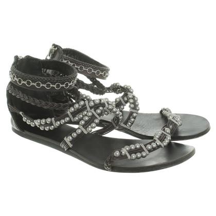 Ash Sandals in black