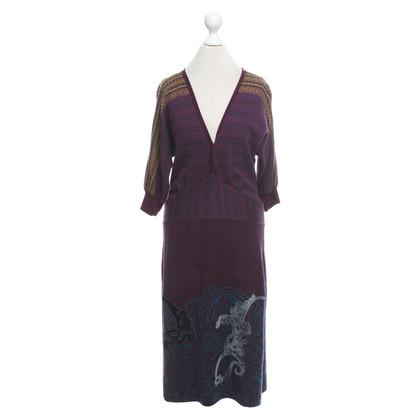 Etro Gebreide jurk in multicolor