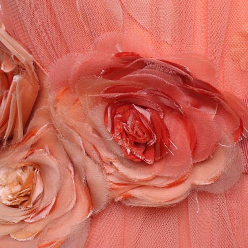 Elisabetta Franchi Pfirsichfarbenes Kleid mit Blüten - Second Hand ...