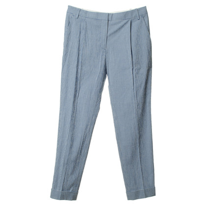 By Malene Birger Checkered pants in blue