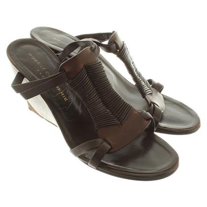 Robert Clergerie Sandaletten mit Keilabsatz