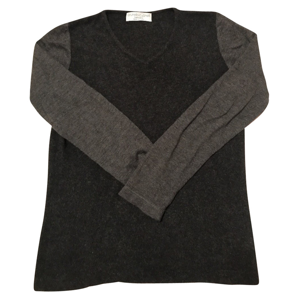 brunello cucinelli pullover aus kaschmir seide second. Black Bedroom Furniture Sets. Home Design Ideas