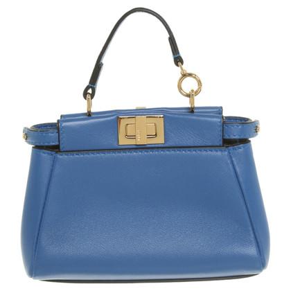 """Fendi """"Peekaboo Bag Micro"""" in blu"""