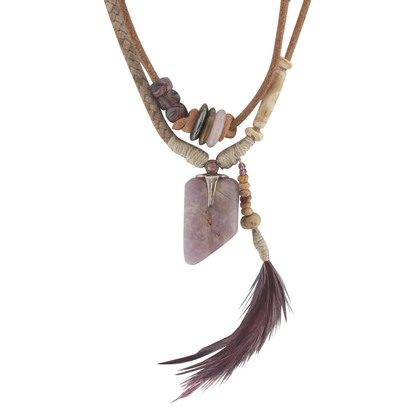Etro Chain with feathers / gemstones