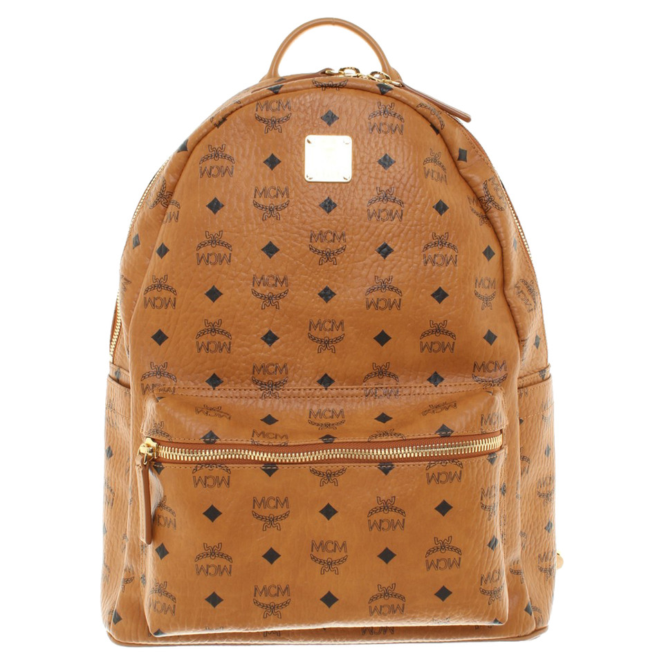 mcm backpack with monogram pattern buy second hand mcm backpack with monogram pattern for. Black Bedroom Furniture Sets. Home Design Ideas