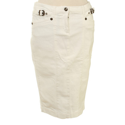 Just Cavalli Cotton skirt in white