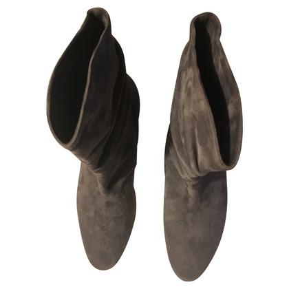 Manolo Blahnik bottines en daim gris