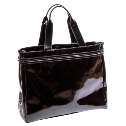 Armani Jeans Black Patent Handbag