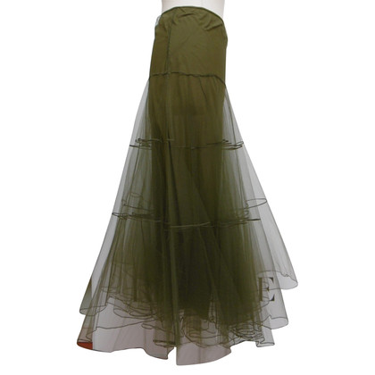 Christian Dior Tulle-skirt in olive