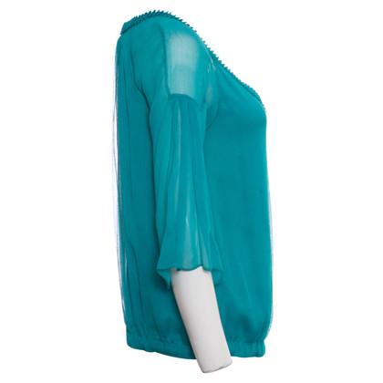 Diane von Furstenberg Seta verde Top