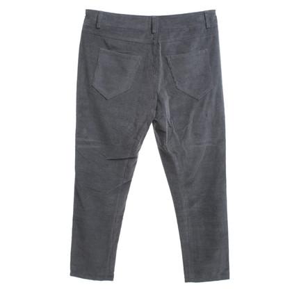 Brunello Cucinelli pantaloni di velluto in grigio