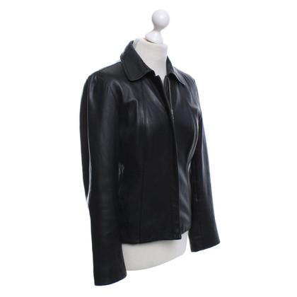 DKNY giacca di pelle corta