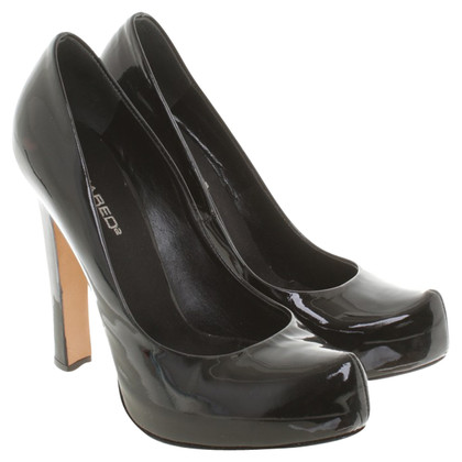 Dsquared2 Plateau in pelle verniciata pumps