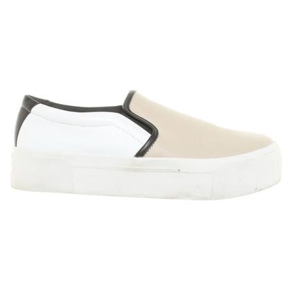 DKNY Dei pergamena del sneaker piattaforma di Bess in nappa bianco