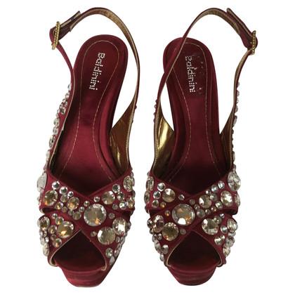 Baldinini Sandals with gemstone trimming