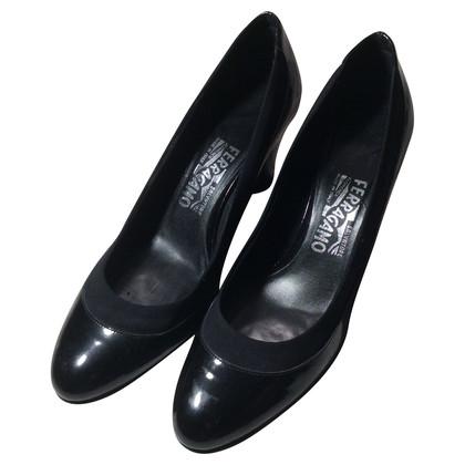 Salvatore Ferragamo Patent leather Pumps with wedge heel