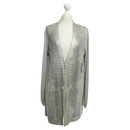 Basler Long cardigan in gray