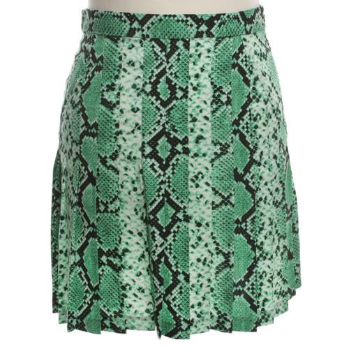 6b7bc1d55c7b Sandro Green skirt with snake pattern - Second Hand Sandro Green ...