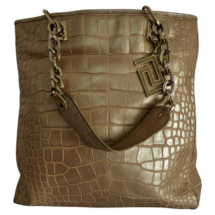 Versace Shopper made of crocodile leather