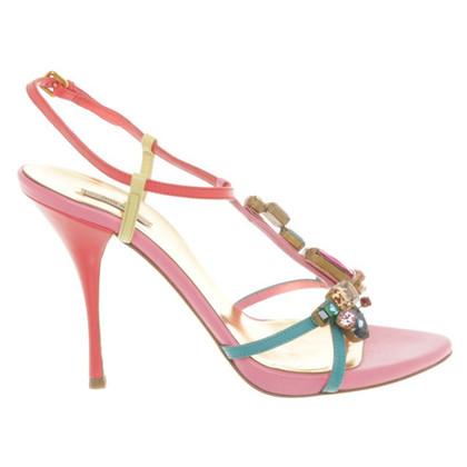 Miu Miu Sandaletten mit Schmucksteinen