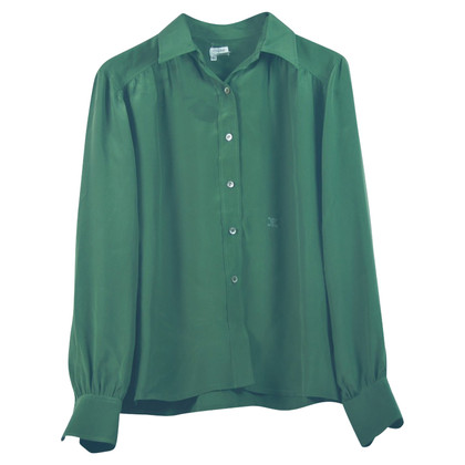 Céline Silk blouse Green