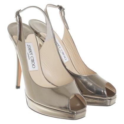 Jimmy Choo Zilverkleurige sandalen