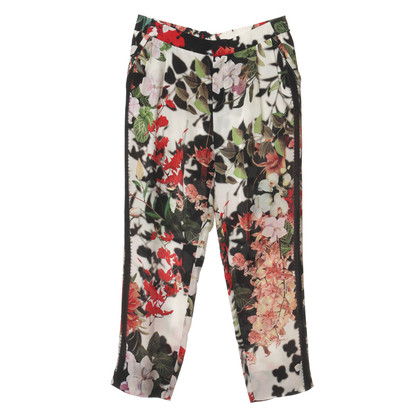 Roberto Cavalli Trousers with flower patterns