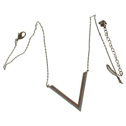 Swarovski V necklace