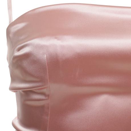 amp; Dolce Pink Rosa in Dolce Gabbana Kleid Satin Rosa amp; qZwfn6U1Ex