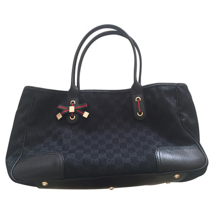 Gucci Fabric bag and Gucci black leather