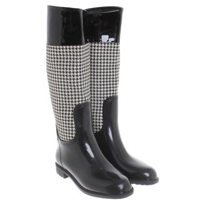 Ralph Lauren Rubberen laarzen in zwart / White