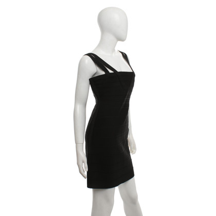 Hervé Léger Form-fitting dress in black
