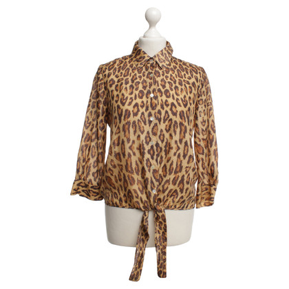 Velvet Zijden blouse met luipaardprint