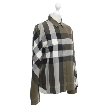 Burberry Blouse in olive / black