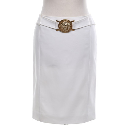 Versace Cotton skirt in white
