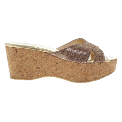 Jimmy Choo Sandals with cork plateau