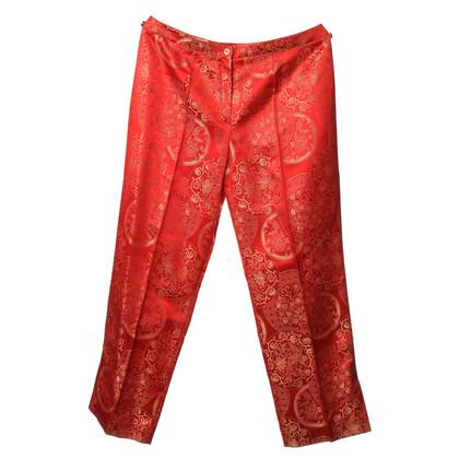 Escada Pants in red with fancy yarn