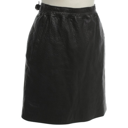 Isabel Marant Leather skirt in black