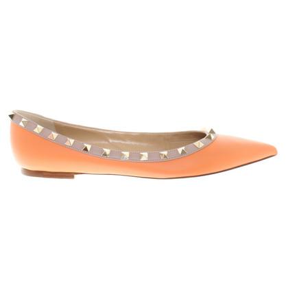 Valentino Ballerinas in orange / nude