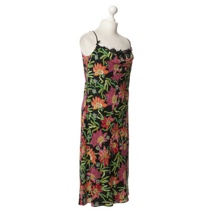 Escada Pinafore dress with a floral pattern