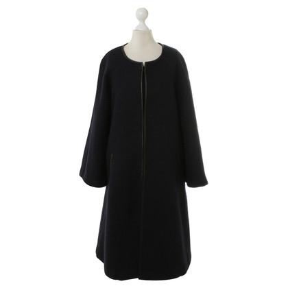 Isabel Marant Etoile  Cappotto in lana con pelle inserti