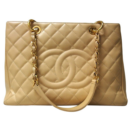 """Chanel """"Grand Shopping Tote"""" made of caviar leather"""