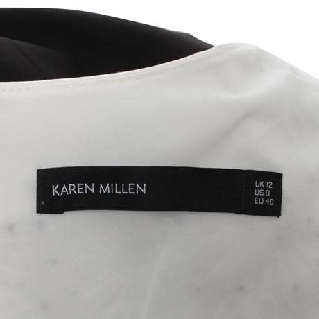 Schwarz Schwarz Millen Cremewei Kleid Karen Kleid Cremewei Karen Karen Millen Millen RnxBaIwZqz