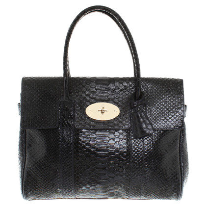 "Mulberry ""Bayswater Bag"" slangenhuid"
