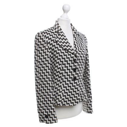 Armani Collezioni giacca di lana con un andamento a zig-zag