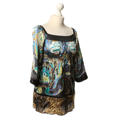 Hale Bob Silk tunic with a floral pattern