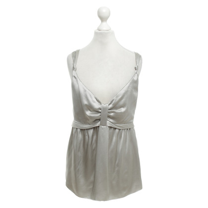 See by Chloé Top in seta argento